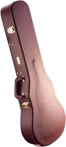 Gator SG-Style Electric Guitar Deluxe Wood Hard Case, Brown GW-SG-BROWN