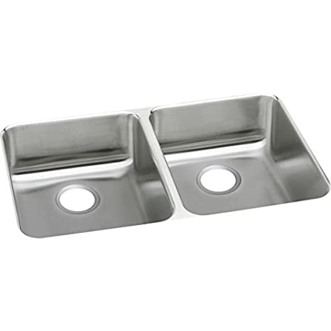 Elkay ELUHAD361855 Lustertone Stainless Steel 35-3/4-Inch x 18-1/2-Inch Undermount Double Basin Kitchen Sink