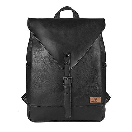 Koolertron-Retro-Kunstleder-Vintage-Fashion-Unisex-School-Student-Laptop14-Rucksack-Wanderrucksack-Hiking-Backpack-Damen-Herren-Schultertasche-Rucksack-Fr-Camping-Reise-Geeignet-fr-Acer-Aspire-MacBook