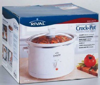 Crock-Pot 3060-W 6-Quart Round Slow Cooker, White from Crockpot