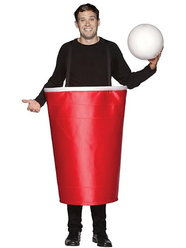 Beer Pong Red Cup and Ball Costume for Men STD