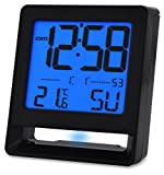 Acctim 71503 Fresno Alarm Clock, Black, LCD, Radio Controlled