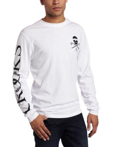 Crooks & Castles Men's Skull and Bars Knit Long Sleeve Top T-Shirt