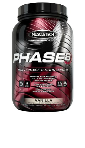 Phase8, Vanilla, 2.0Lb., Sustained Release Protein