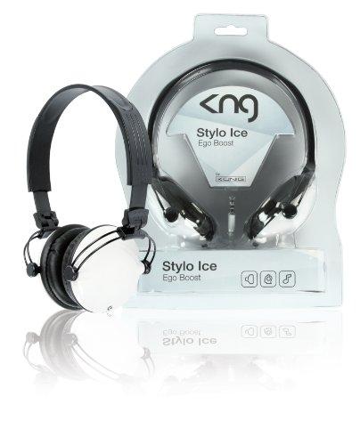 KNG Stylo Ego Boost Designer Headphones - White