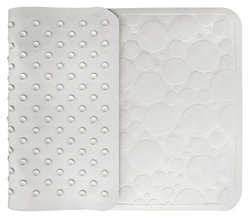 Bathtub Mat Non Slip * The Best Safety Addition for Your Shower or Bath From RiteGrip * 16 in X 28 in Mildew Resistant White Natural Rubber Rug with Suction Cups to Prevent Slippage * Perfect for Baby Kids and Easy to Clean * Protect Yourself Now!