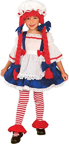 Rag Doll Girl Child Costume Size 2-4 Toddler