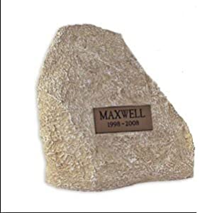 Pet Cremation Urn, Limestone Rock, Medium Size