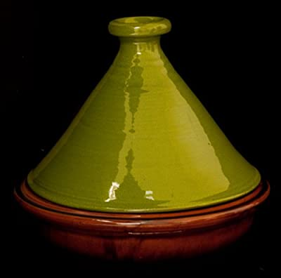 Terracotta Handmade Tagine 30cm - Green by Collectively Artisan
