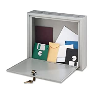 Buddy Products Inter-Office Mailbox, Steel, Large, 7 x 18 x 18 Inches, Platinum (5626-32)