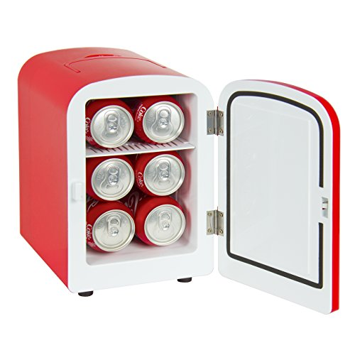Best Choice Products SKY1591 Portable Mini Fridge Cooler and Warmer (Auto Car Boat Home Office AC & DC Red) (Mini Car Fridge compare prices)