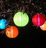 Allsop Home and Garden 10-Inch Round Soji Solar Lantern