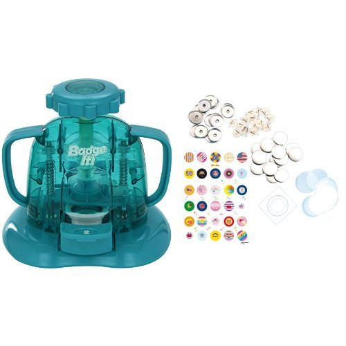 Bandai 8010 - Badge it! Buttonmaker, sortiert, Farbe nicht frei wählbar + Bandai 08025 - Nachfüllpack für Badge it! Buttonmaker, farblich sortiert, Farbe nicht wählbar
