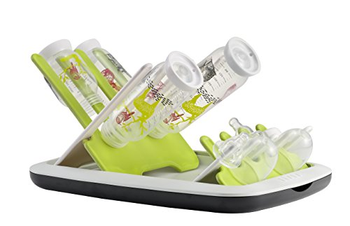 Beaba-faltbar-Flaschen-und-Zubehr-Abfluss-Rack-Neon