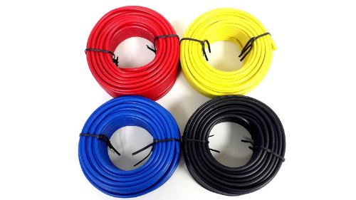 2 Rolls Audiopipe 50' Feet 10 Gauge Awg Primary Remote Wire Auto Power Cable