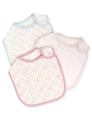 3 Pack Pure Cotton Gingham Bibs