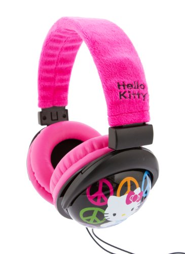 Hello Kitty 35009-Pnk-Wal-P Pink Plush Headphones