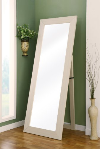 Enitial Lab Cosmo Beveled Floor Standing Mirror, Ivory back-544272