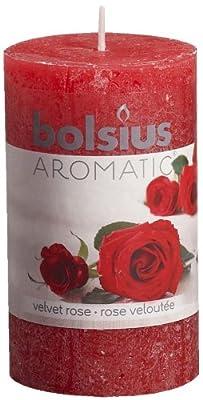 Ivyline Bolsius 100 X 58 Mm Rustic Scented Pillar Candle Velvet Rose by Ivyline