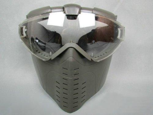 フルフェイス ファンマスク Proゴーグル [くもり防止ファン搭載] レンジャーグリーン