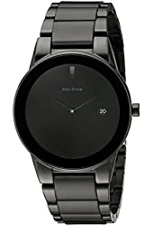 "Citizen Men's AU1065-58E  Eco-Drive ""Axiom"" Black Stainless Steel Watch with Three-Link Band"