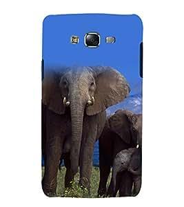 printtech Nature Animal Elephant Back Case Cover for Samsung Galaxy J5 / Samsung Galaxy J5 J500F