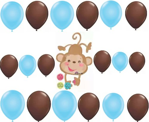 Monkey It's a Boy or Girl Welcome Baby Shower Balloon Decoration Kit - 1