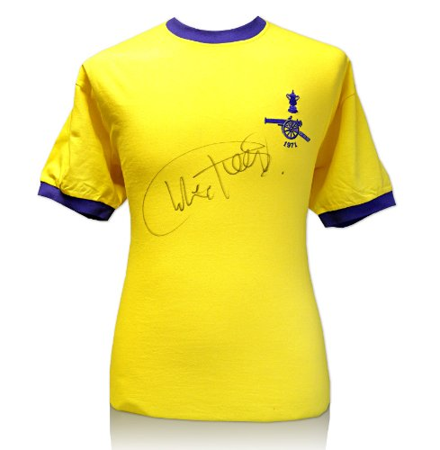 Classic Arsenal 1971 Double Winners shirt signed by Charlie George