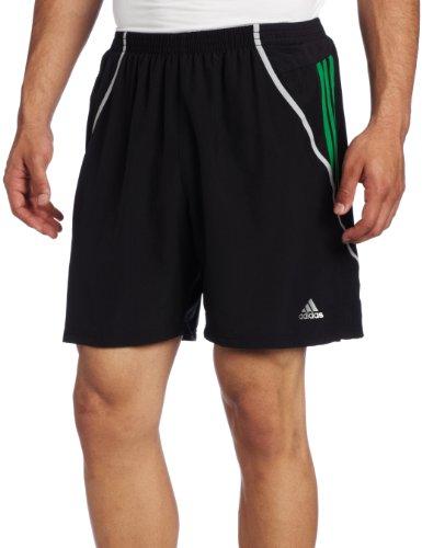 adidas Adidas Men's Response 7-Inch Baggy Short, Black/Prime Green/Light Onix, X-Large