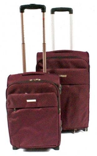 Nobel Koffer Trolley-Set von Excelent, natur-braun
