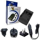 Ex-Pro chargeur de voyage d'appareil photo numérique - 2 heures jeûnent charge - pour Sony caméscope NP-FH30, NP-FH50, NP-FH60, NP-FH70, NP-FH100 approprié à :- HDR-SR1E, HDR-SR5E, HDR-SR7E, HDR-SR8E