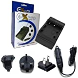 Ex-Pro JVC BN-VG107, BN-VG114, BN-VG121 Digital Camcorder Travel Charger, UK, USA, Canada & Europe - 2 Hour Fast Charge for JVC Everio GZ-HD500, GZ-HD620, GZ-HM300, GZ-HM330, GZ-HM550, GZ-MG750, GZ-MS110, GZ-MS210, GZ-MS230, GZ-MS250