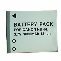 STK's Canon NB-6L NB-6LH 1600mAh Battery for Powershot SX510 HS SX170 IS SX260 HS SX500 IS S120 D20 SX280 HS SD1300 IS D10 S95 S90 ELPH 500 HS SX240 HS SX270 HS SX600 HS SX700 HS