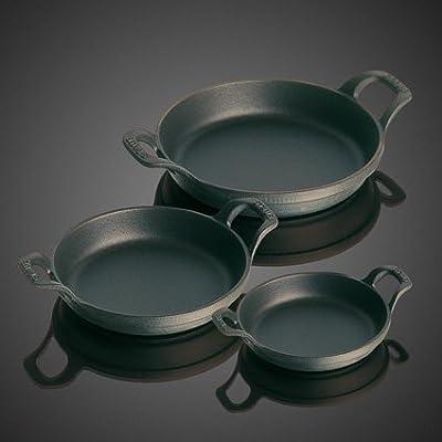 Staub 1301623 Round Roasting Dish, 16 cm, Matt Black