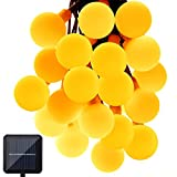 Solar Outdoor String Lights, GDEALER 31ft 50 LED Waterproof Ball Lights Christmas Lights Solar Powered Starry Fairy String lights for Garden, Patio, Yard, Home, Christmas Tree, Parties Warm White (1)