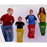 418kgVSsoRL. SL160  Sack Race Game Set Outdoor Jumping 4 Sacks with Handles