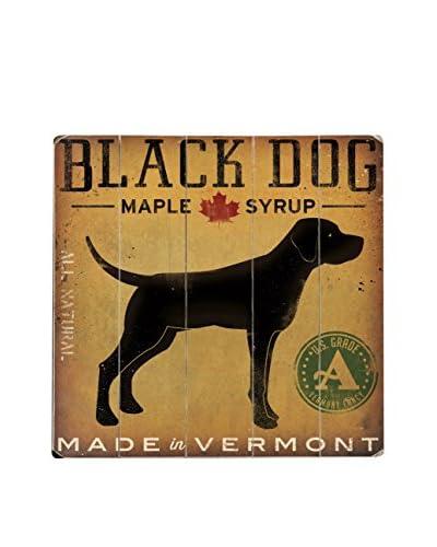 Artehouse Black Dog Maple Syrup Wood Wall Décor, Brown/Black