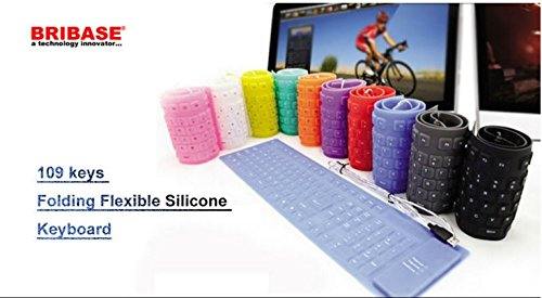 Usb Flexible Foldable Silicone Keyboard Waterproof Rubber 109 Keys For Pc Laptop