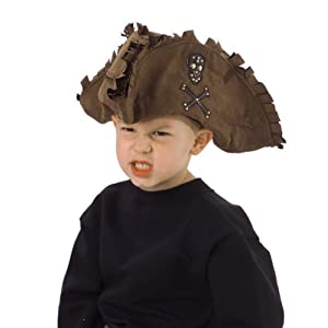 Click to buy Pirate Birthday Party Ideas: Kid's Tattered Pirate Hat from Amazon!