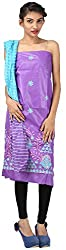 Hardy's Style Women's Cotton Silk Dress Material (HS-13, Purple)