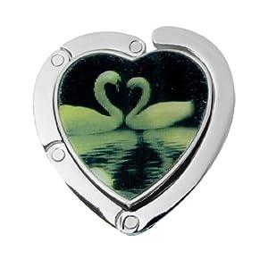 Amazon.com : Corazón patrón del cisne aleación de la forma plegable