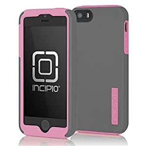 Incipio DualPro Case for iPhone 5S - Retail Packaging - Gray/Pink