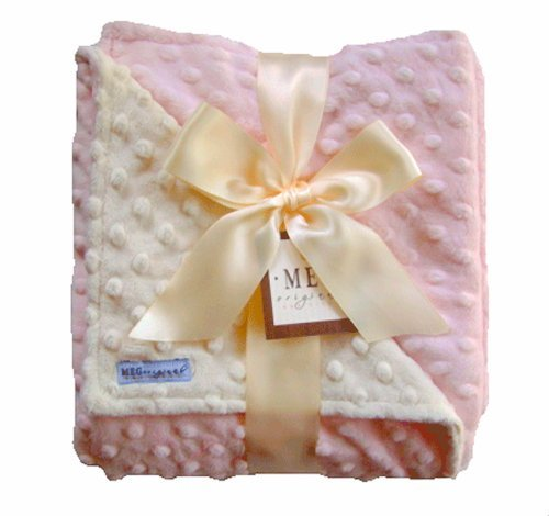 Minky Dot Baby Blankets front-4641