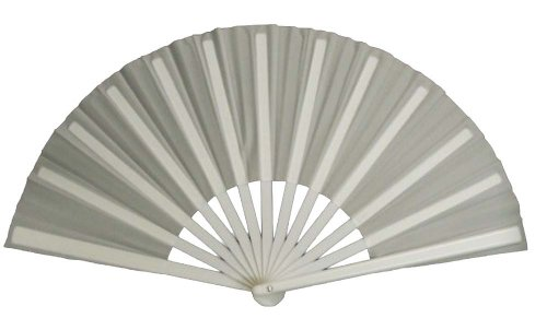 White Performance Folding Fan #3000