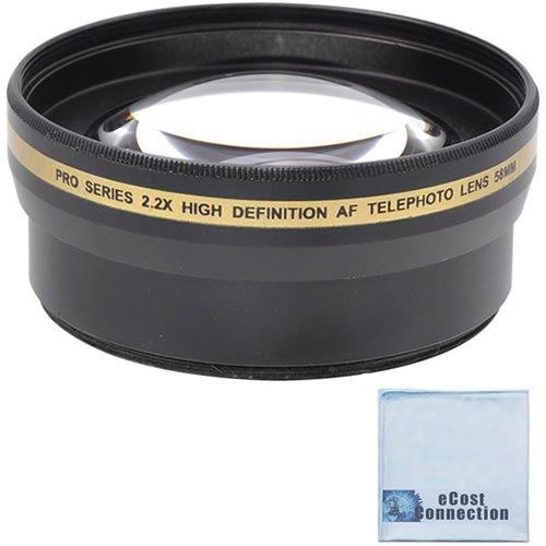 Pro Series 58Mm 2.2X High Definition Af Telephoto Lens + Microfiber Cloth For Nikon Af-S Nikkor 50Mm F/1.4G Autofocus Lens, Af-S Nikkor 50Mm F/1.8G, Af-S Nikkor 55-300Mm F/4.5-5.6G Ed Vr Zoom, Af-S Nikkor 55-300Mm F/4.5-5.6G Ed Vr Zoom