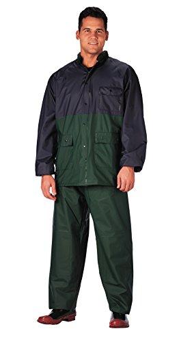 P.V.C. Rain Suit, Medium - Navy / Green