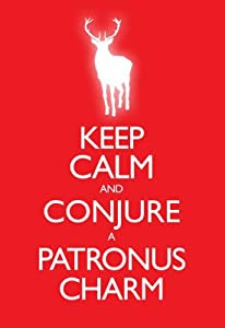 (13x19) Keep Calm and Conjure a Patronus Charm Carry On Spoof Poster Print