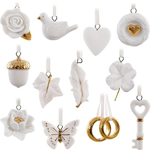 Hallmark Keepsake Ornament Set 2016 Wedding Wishes Ornament Set