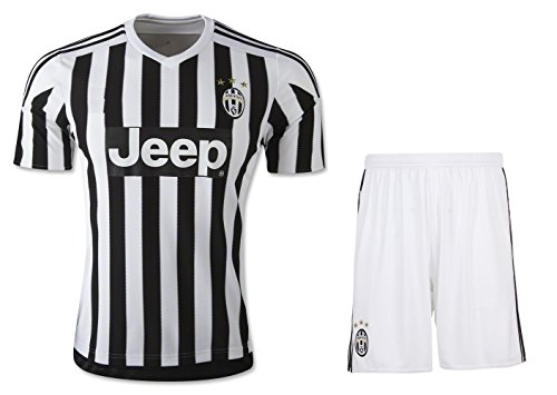 juventus-home-away-kids-soccer-jersey-free-shorts-set-kit-youth-sizes-ys-ym-yl-by-young-star-sports-