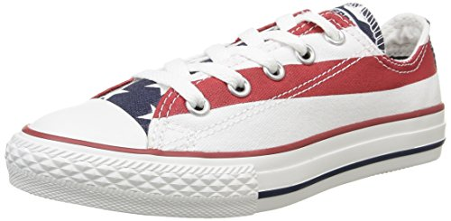 Converse All Star Ox Canvas - A2 Scarpe Sportive, Unisex Adulto, Multicolore (Stars&Bars), 35